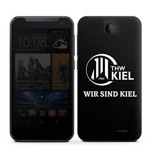 Folie kompatibel mit HTC Desire 310 Aufkleber Skin aus Vinyl-Folie Handball THW Kiel Fanartikel