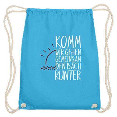 Kom, we gaan samen Den Bach Runter - Partner Vrienden eenvoudig en grappig design - Katoen Gymsac