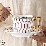 Dudu Tazas La misma taza de café, Juego de desayuno nórdica Copa, creativo Inglés de la tarde taza de té, Pareja rayado de la Copa Set 200 ml / del regalo de la acción de gracias, regalo del día de Va