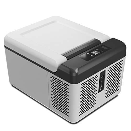 YANN 9L Mini refrigerador/congelador eléctrico, oficinas, Dormitorio para Estudiantes, automóviles, dormitorios - Función de Calentamiento y refrigeración - AC/DC Power