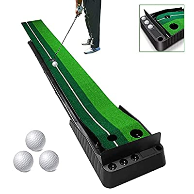 Amazon - 40% Off on Indoor Golf Putting Green, Portable Travel Golf Balls Mat with Baffle Plate