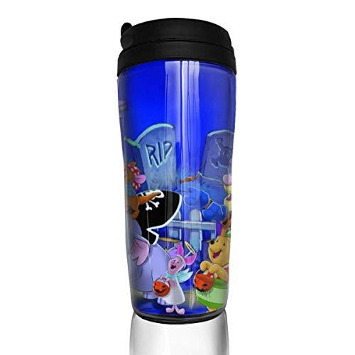 haiyou Tazas de café de doble pared de aislamiento reutilizable conveniente para llevar, taza tapa interruptor de salida de agua hermoso y práctico