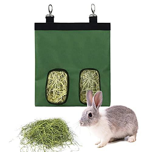 Dracol Bolsa de comida para conejos, bolsa de tela, dispensador de comida, heno, cobayas, bolsa de comida para colgar para cobayas, chinchillas, hámsters, heno