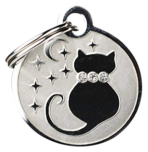 GoTags Pet ID Designer Dogs & Cats Starry Moon Pet Tags, 1' x 1'