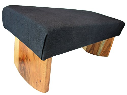 Meditation Bench, Acacia Wood, (Black)