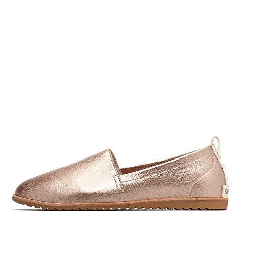 Sorel - Women's Ella Slip On Leather Shoes, Warm Gold, 8 M US