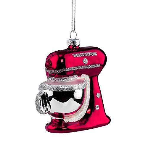 Butlers Hang ON Anhänger Küchenmaschine - Stylische Weihnachtsdeko - Weihnachtsschmuck Baumschmuck - Glas