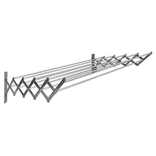 BriTools Tendedero Extensible Pared 80 cm Aluminio