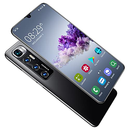 RONGXI Old Man Smart Cell Phone,Children's Mobile Phones,Adults, R11 Pro,10-core 6.8-inch HD 1440 3200, 5G, 4GB + 256GB 24MP + 48MP, Battery 5000mah, Android 10.0 (Color : Black)
