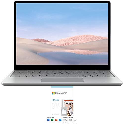 Microsoft THH-00001 Surface Laptop Go 12.4-inch Intel i5-1035G1 8GB/128GB Touchscreen, Platinum Bundle 365 Personal