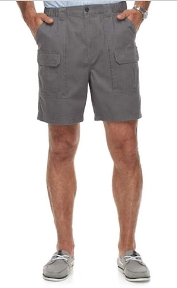Side Elastic Relaxed Fit Cotton Cargo Shorts (Castlerock, 29)