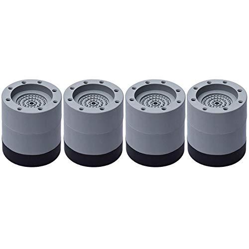 4 almohadillas para pies de lavadora, almohadillas de goma antivibración, antideslizantes, anticamino, para mantener en su lugar para todas las lavadoras y secadoras