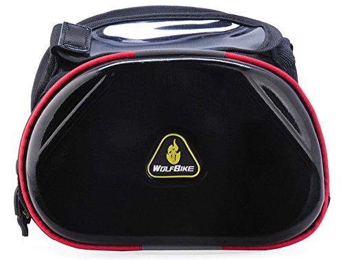 SaySure-WOLFBIKE pour Phone 4 couleurs homme-Sac de sport femme-Accessoires de vélo Double pour cadre avant Tube sac vélo avec-UK-BG-tubes et tuyaux sans soudure - 000289