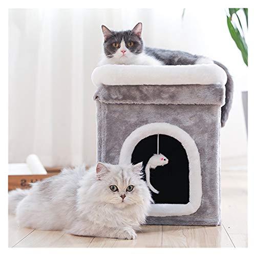 JSJJAWS Arbol Rascador Gatos Casa de Gato Casa contra la Pared Cat Stiming Frame Cat Litter Cat Showing Platform Cat Mirador Pet Gato Suministros para Gatos (Color : Gray, Size : S)