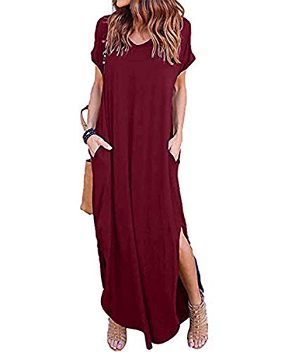 Style Dome Robe Longue Femme Robe Femme Chic Robe ete Femme Robe Femme Sexy Robe Boheme Chic Grande Taille, 575832*rouge, XX-Large