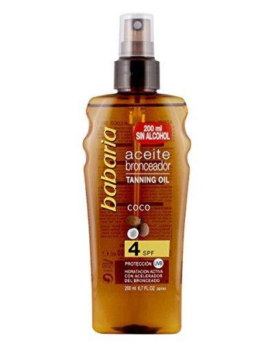 Babaria Aceite Solar Spray Coco SPF4-200 ml