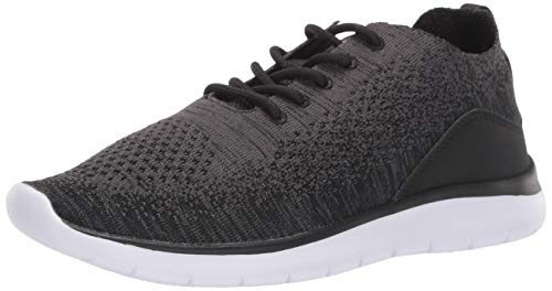 Amazon Essentials Men's Knit Athletic Sneaker, Black, 12 M US