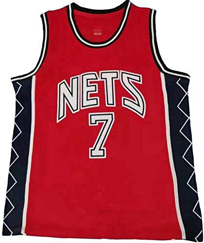 GLACX Ropa de Baloncesto de los Hombres Brooklyn Nets 7# Durant Nuevo Nuevo Bordado Moda VESTURA NINGÚN T-Shirt Unisex,XL