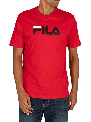 Fila Uomo T-Shirt con Logo Eagle, Rosso, L