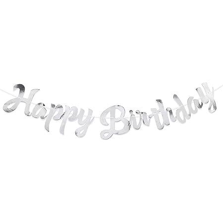 VINFUTUR Striscioni Compleanno Ghirlande Decorazioni Feste di Compleanno Birthday Banner Bandierine di Buon CompleannoHappy Birthday