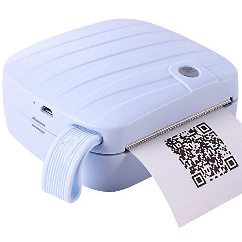 ZHBD Impresora Portátil De Fotos para Imprimir Etiquetas De Fotos, Mini Impresora De Etiquetas Térmicas Inalámbricas, Impresoras De Bolsillo Sin Tinta para Viajar, Compatible con Android/iOS,Azul