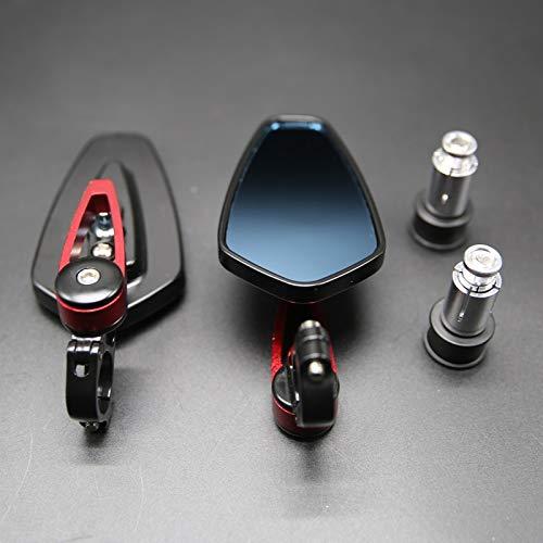 ZMMWDE Espejos retrovisores Laterales universales de 1 par de 7/8'22 mm de Aluminio para Motocicleta
