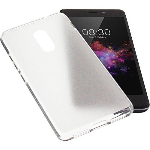 foto-kontor Tasche für TP-Link Neffos X1 Gummi TPU Schutz Handytasche transparent