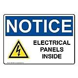 AmyyEden Panneau métallique en Aluminium avec Panneau de signalisation électrique à l'intérieur 20,3 x 30,5 cm