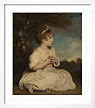 ArtEdge The Age of Innocence by Sir Joshua Reynolds, Wall Art Framed Print 32x24 Soft White Mat