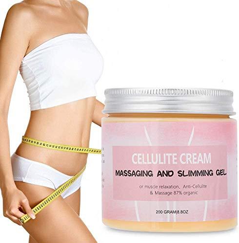 200g Crema anticelulítica, Crema corporal para el brazo, cintura, Crema adelgazante Crema reductora de peso para dar forma a los muslos, piernas, abdomen, brazos y glúteos.