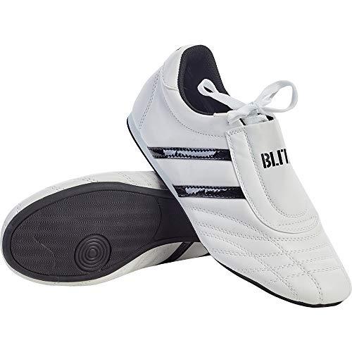 Blitz Unisex's Martial Arts Training Shoes, White Black, US:5