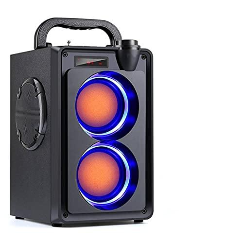 TLJF Altavoces Bluetooth de 20 W, portátil, inalámbrico, estéreo, Bass, subwoofer, Big...