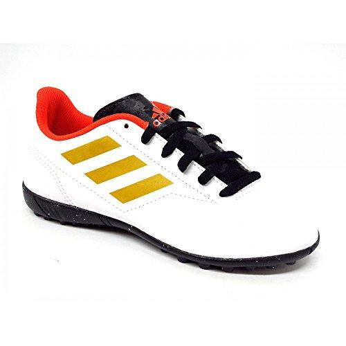 adidas Conquisto II TF, Zapatillas de Fútbol Unisex Niños, Blanco (Ftwwht/Tagome/Solred 000), 30.5 EU
