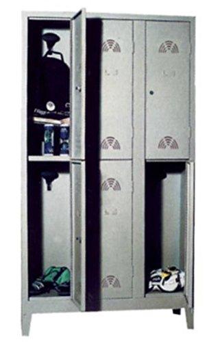 COARME Armadio Multipli spogliatoio 6 posti 101x50x180 cm con Serratura a Chiave