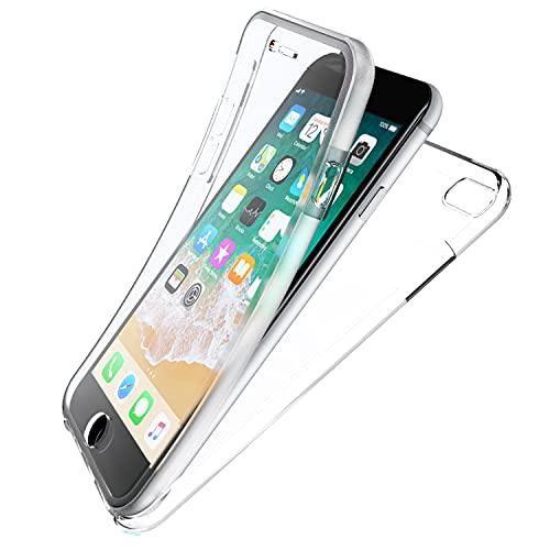 N NEWTOP Cover Compatibile con Apple iPhone 6 e 6S, Custodia Crystal Case Guscio TPU PC Protezione 360° Fronte Retro Full Body Trasparente Resistente