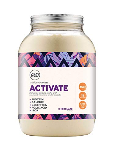 Active Woman Activate Chocolate HighIntensity Pre Workout NonGMO Protein shake 450g