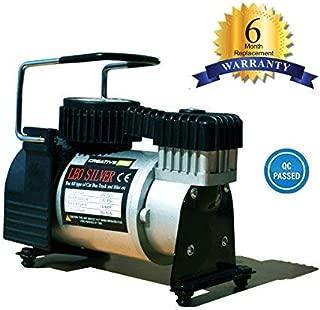 CreativeVia Heavy Duty Metal Air Compressor Tyre Inflator Air Pump- (100% Copper Winding)