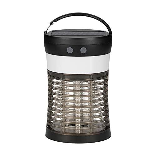 Staright Lámpara solar 2 en 1 para eliminar insectos y lámpara LED, antimosquitos eléctrico, linterna para acampar, 3 modos de luz, impermeable para uso en interiores y exteriores, 1800 mAh, lámpara
