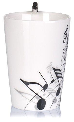 """Keramiktasse mit Motiv Henkel – Weiß Bedruckt """"E-Gitarre"""" Design ca. 0,2l – Tee & Kaffee Tasse zum Verschenken – Grinscard - 5"""