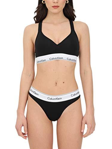 Calvin Klein Damen Bustier Bralette Lift BH, Schwarz (Black 001), S (84-89 cm)
