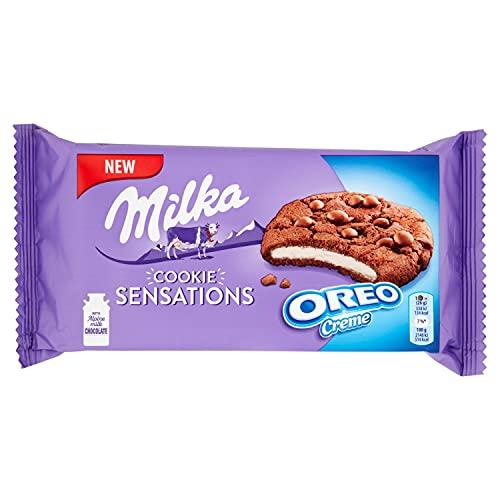 Milka Oreo Biscotti Ripieni di Crema, 156g