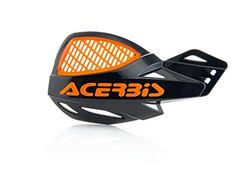 Acerbis 9846.01 Vented Uniko Handguards, Black/Orange