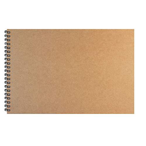KidsPark Album da Disegno Professionale, Album Disegno A4 Spiralato per Bambini Adulti Blocco da Disegno a4 Ruvidi, Rilegata Carta Acquerello Fogli da Disegno Privo di Acidi