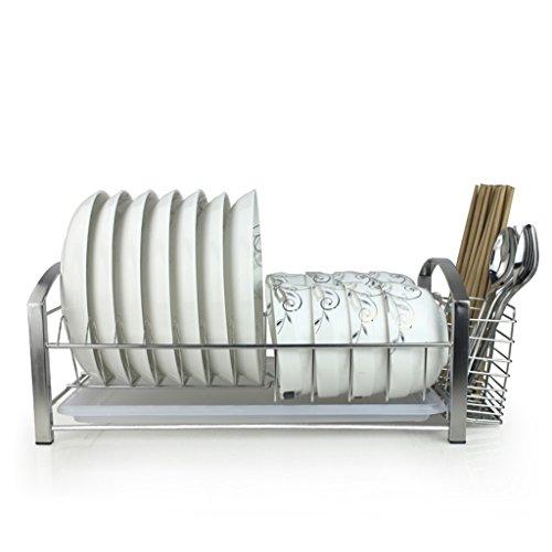 Rack de vaisselle Rack de rangement en acier inoxydable Matériel de cuisine Étagère Cool Put Dripping Bowl Étagère Drain Water Tray 41 * 26 * 16.5CM (Couleur : B, taille : 41 * 26 * 16.5CM)