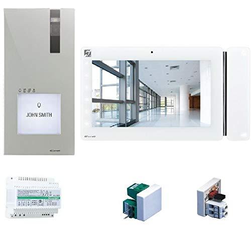 COMELIT - Kit de videoportero con placa de calle y monitor MAXI de 7 pulgadas