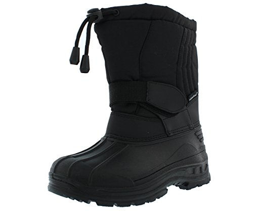 SkaDoo Boys' Snow Goer Boots - Black, 4 Youth