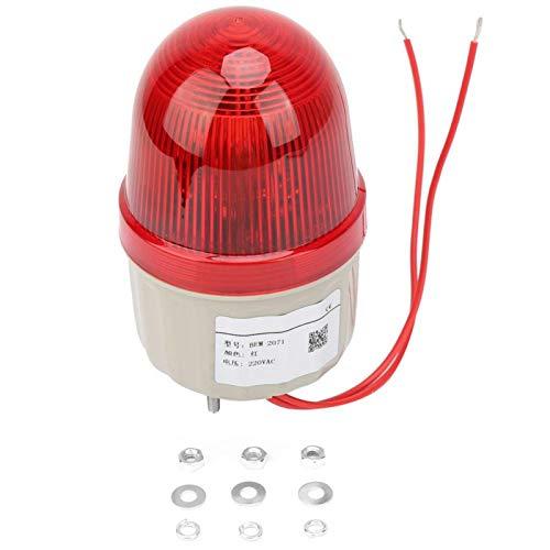 Luz de señal estroboscópica - 220VAC Luz de señal estroboscópica Perno fijo Luces de advertencia LED rojas 75 mm de diámetro