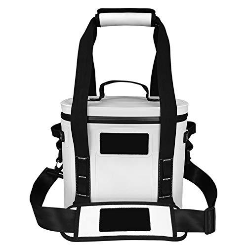 YIDPU 8L Kühltaschen Rucksack,hohe Kapazität Luftdichter Reißverschluss Wasserdichter Stoff Mit Griff Isolierbeutel, Geeignet Zum Wandern Camping Picknick Arbeitsessen Rucksack,Weiß