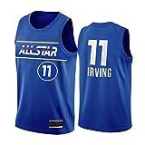 PQMW 2021 All-Star Durant Team Jersey Nets # 11 Irving Basketball Jersey para hombre, Juventud, Swingman, transpirable y resistente al desgaste, Irving-L(75~85 kg)