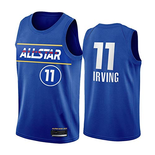 PQMW Camiseta de baloncesto All-Star Durant Team 2021, con redes #11 Irving para hombres